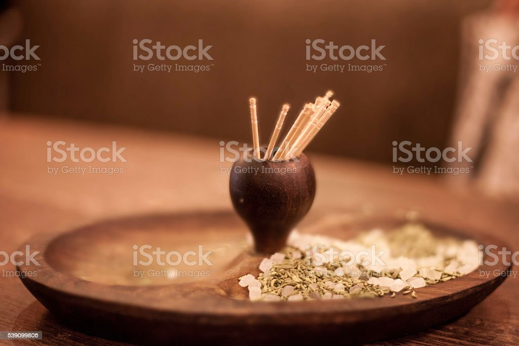 traditional indian paan - uses after food, in restaurant stock photo
