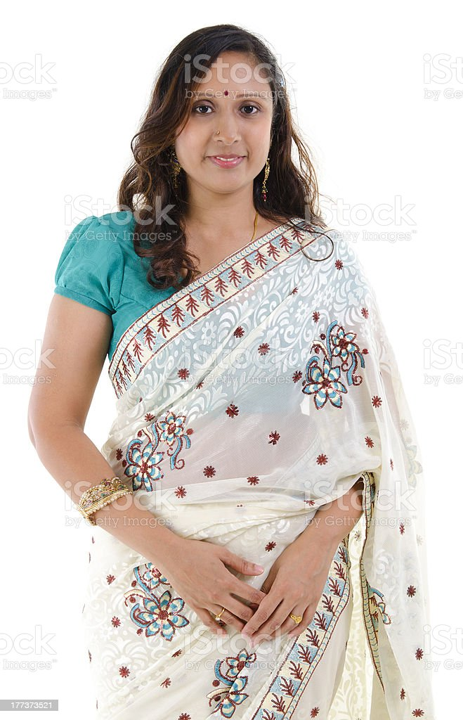 Traditional Indian woman royalty-free stock photo