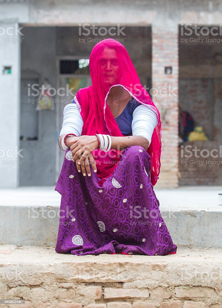 Traditional Indian women stock photo