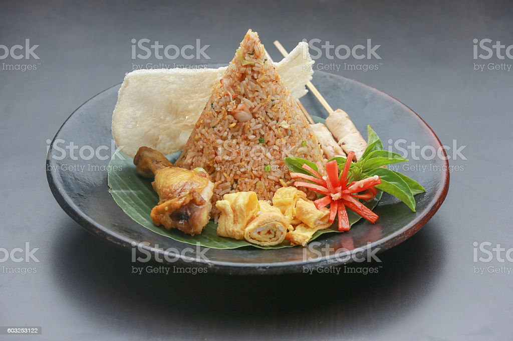 Traditional indonesian food stock photo