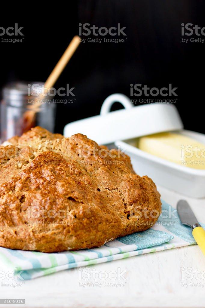 Traditional Irish Brown Soda Bread stock photo