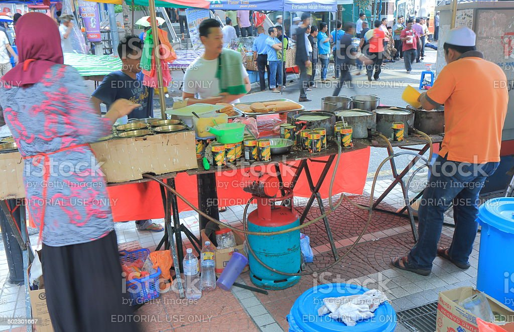 Traditional Islamic pancake shop Malaysia stock photo