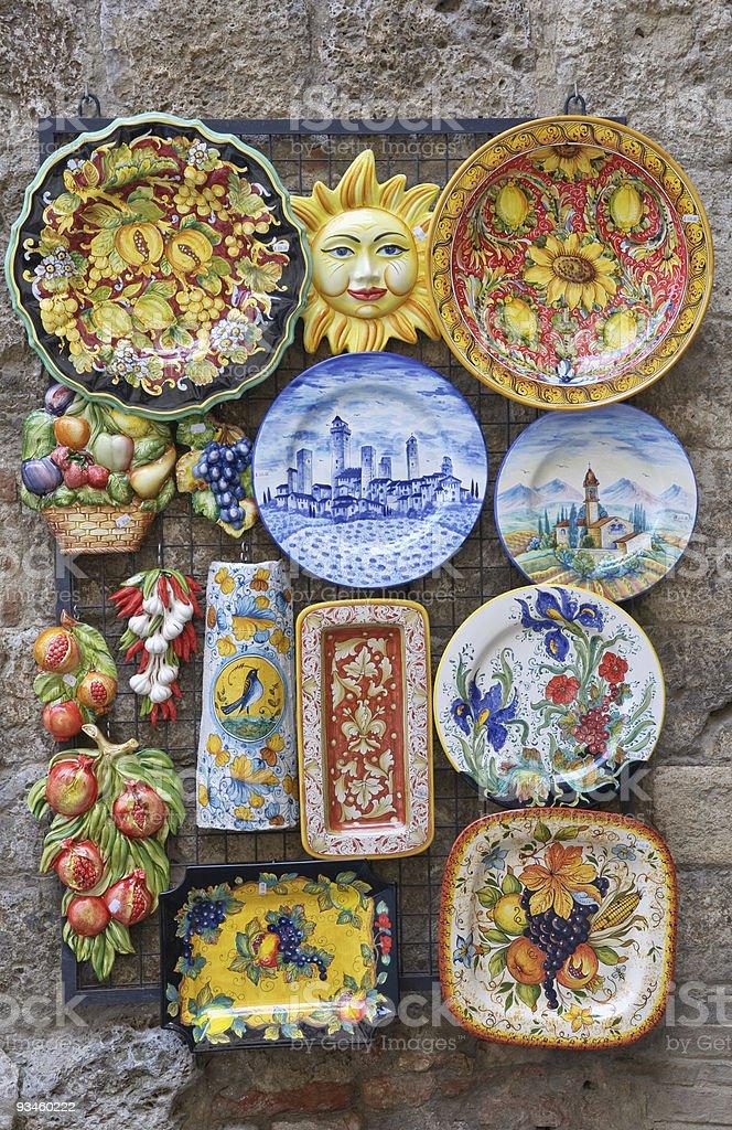 Traditional Italian ceramics stock photo