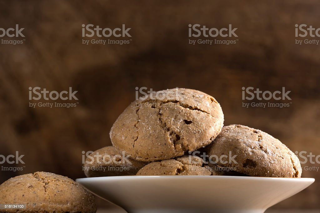 Traditional Italian cookies stock photo