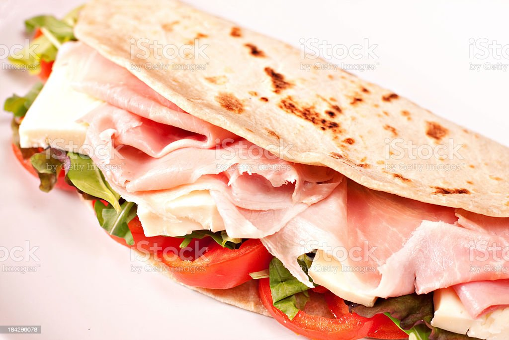 Traditional Italian piadina royalty-free stock photo