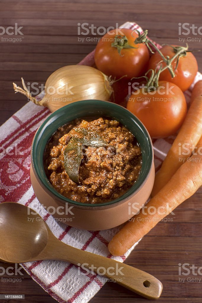 Traditional Italian Ragu' royalty-free stock photo