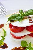 Traditional Italian salad. Closeup