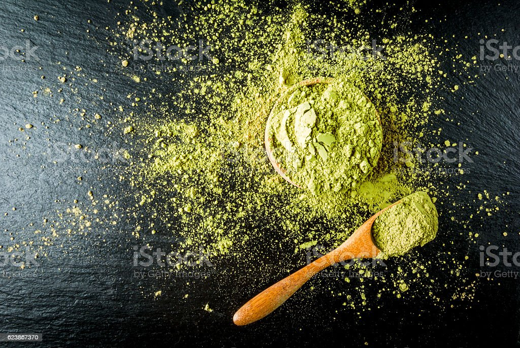 Traditional Japanese and Chinese tea matcha stock photo