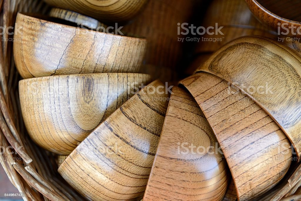 Traditional Japanese Bowls For Sale in Narai Nagano Japan stock photo