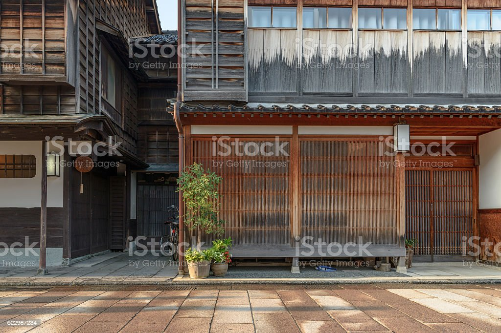 Traditional Japanese cityscape stock photo