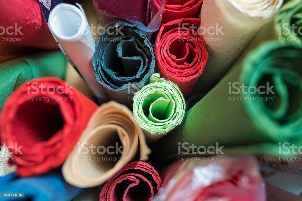 Traditional Japanese craft paper stock photo