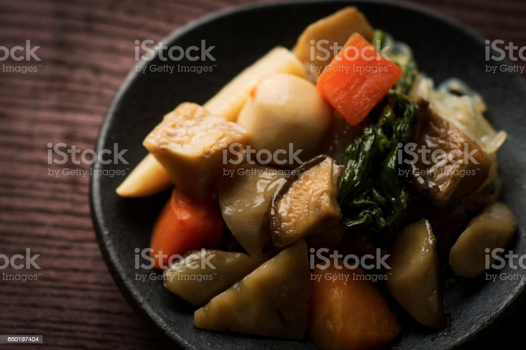 Traditional Japanese hodgepodge stock photo