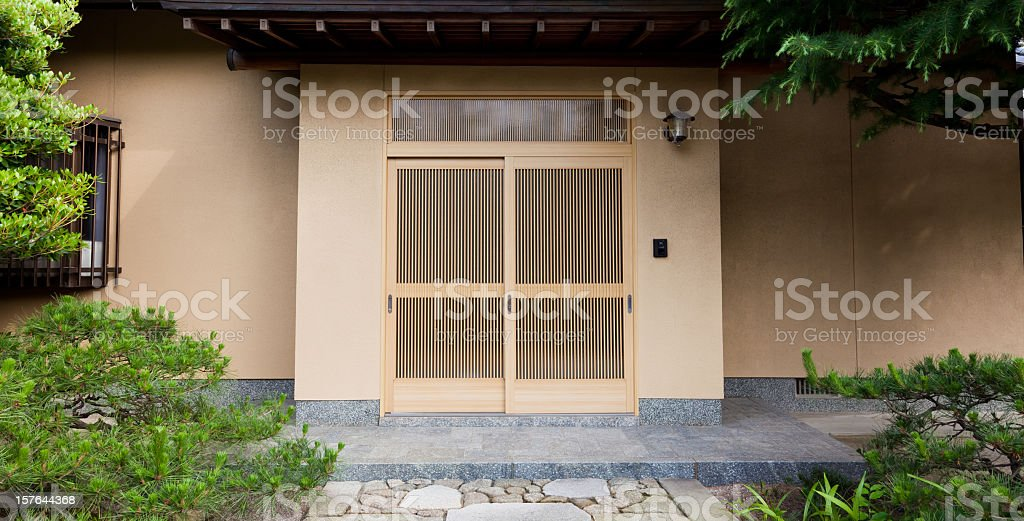 Traditional Japanese home, Japan stock photo