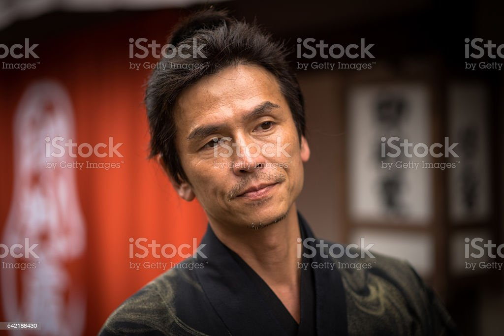 Traditional Japanese Man stock photo