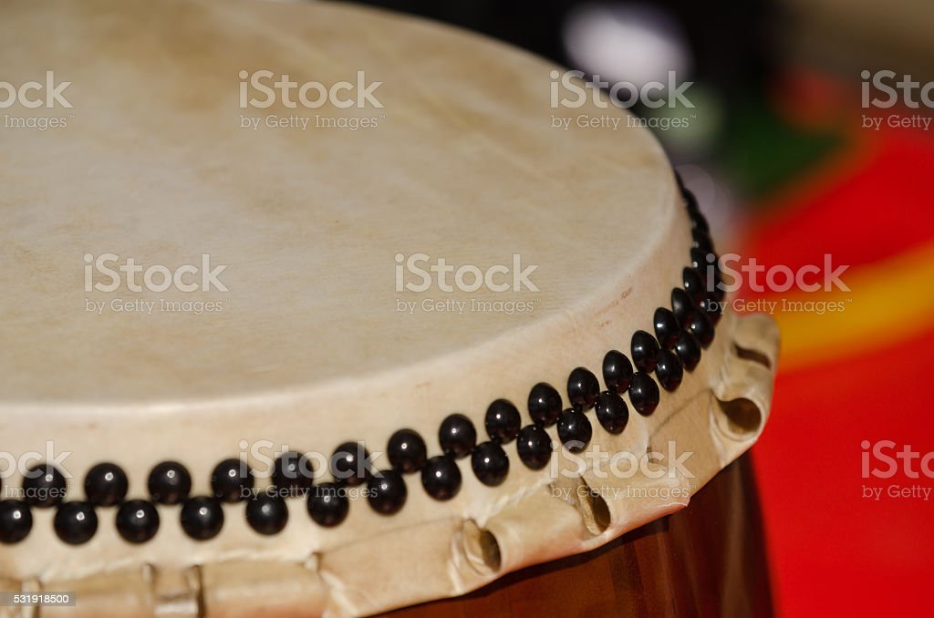 Traditional japanese percussion instrument Taiko or Wadaiko drum stock photo