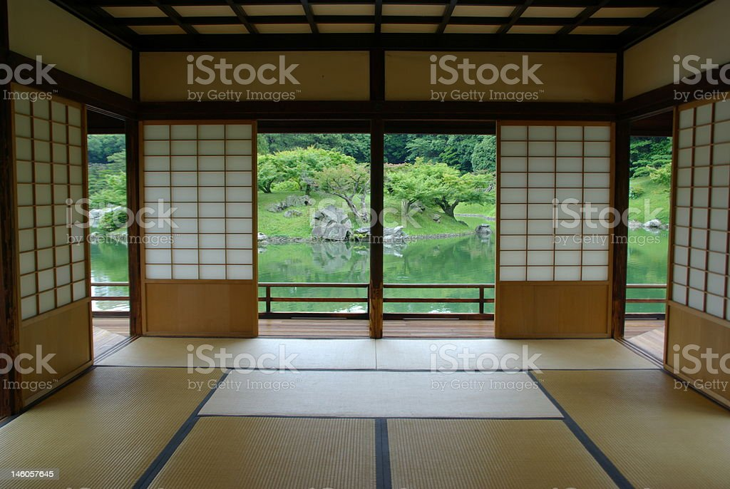 Traditional Japanese Room royalty-free stock photo