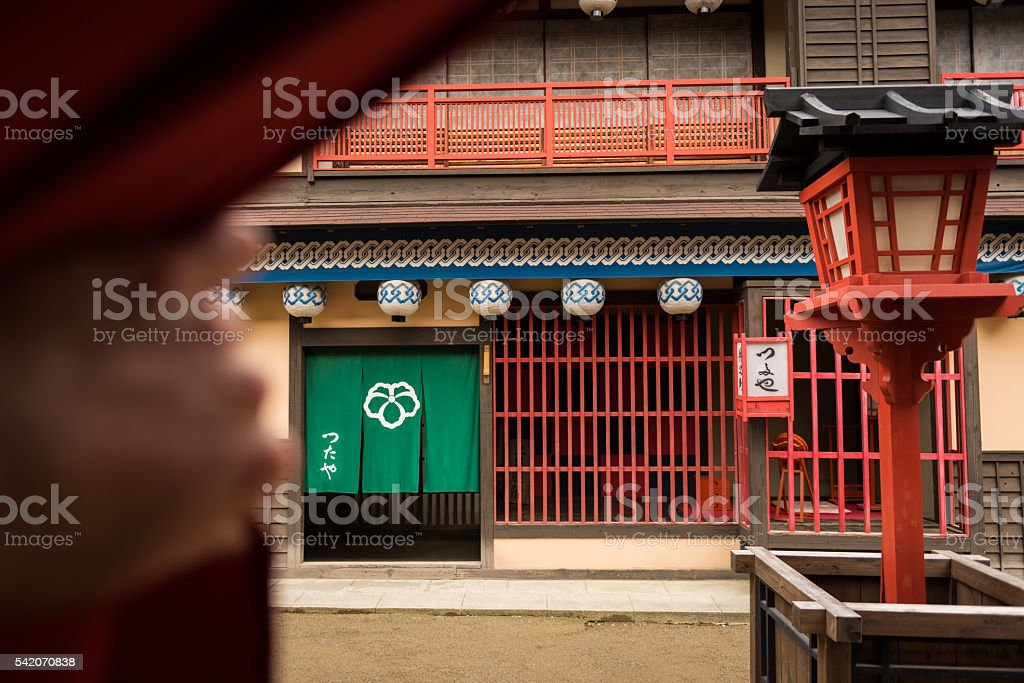 Traditional Japanese street scene stock photo