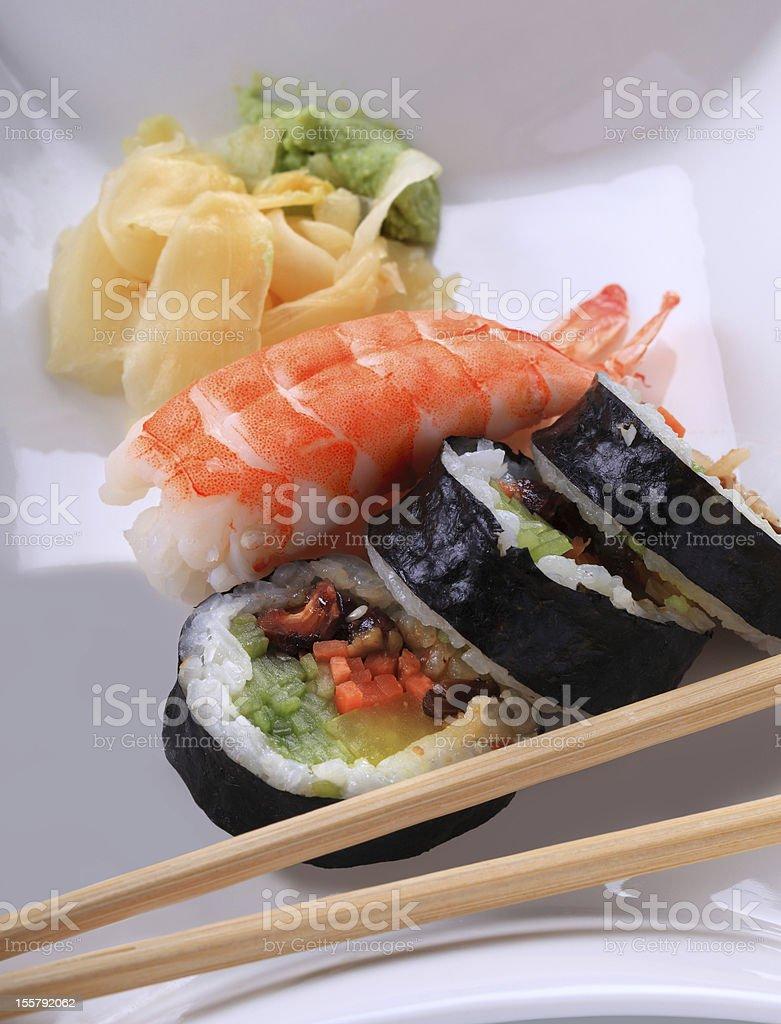 Traditional japanese Sushi royalty-free stock photo