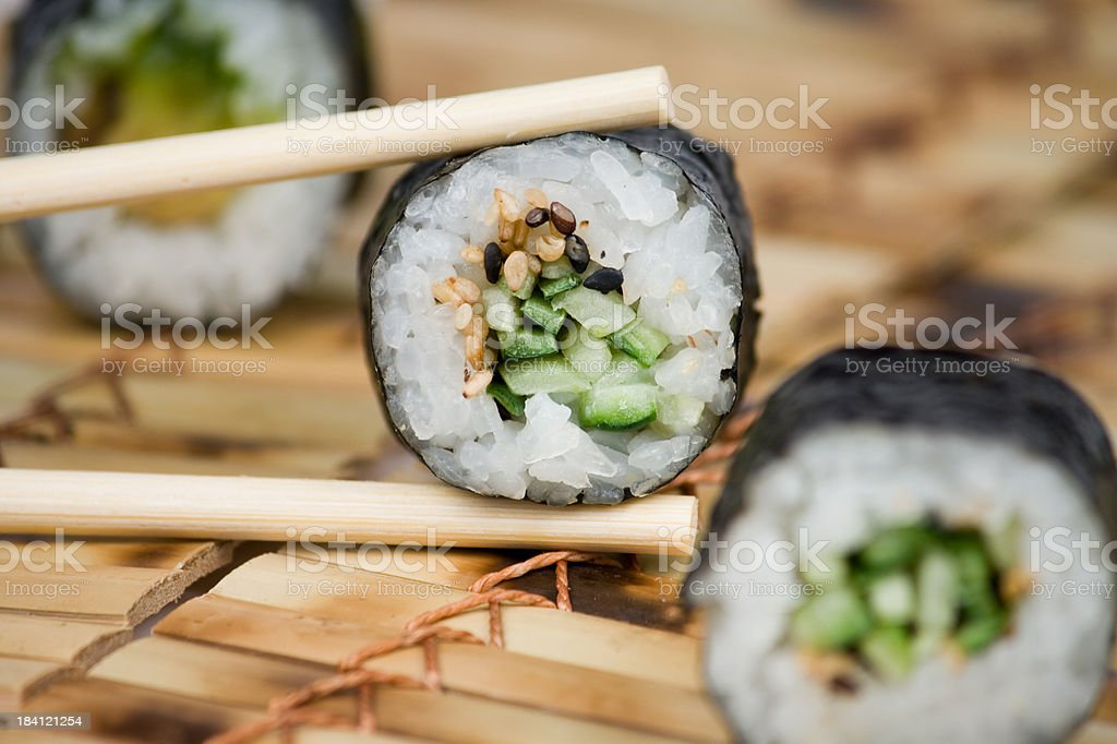 Traditional japanese sushi royalty-free stock photo