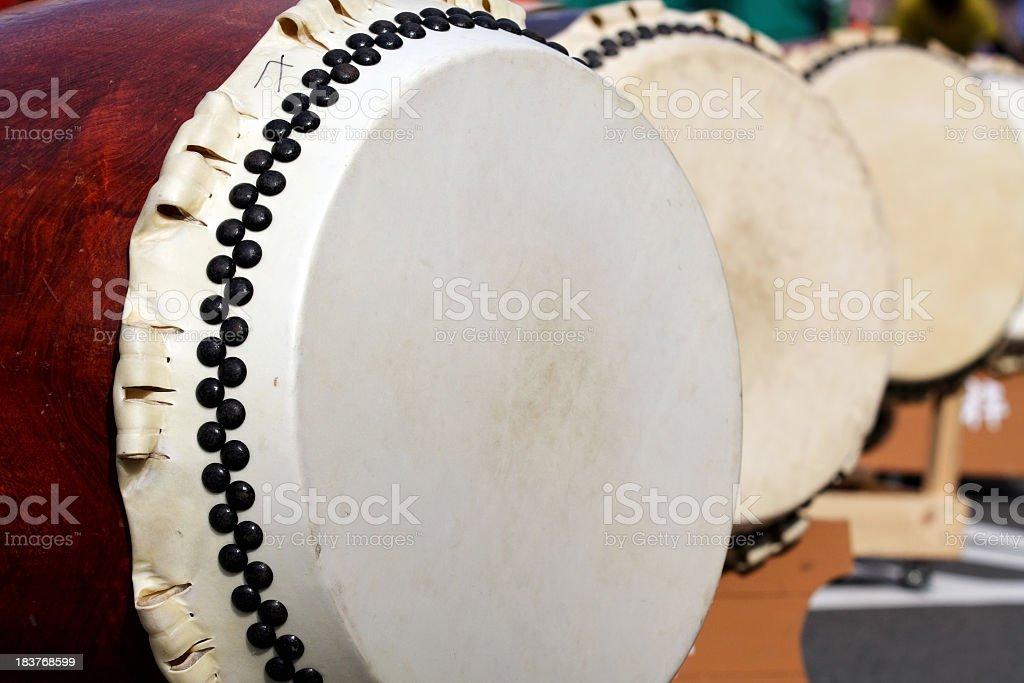 Traditional Japanese Taiko Drum stock photo