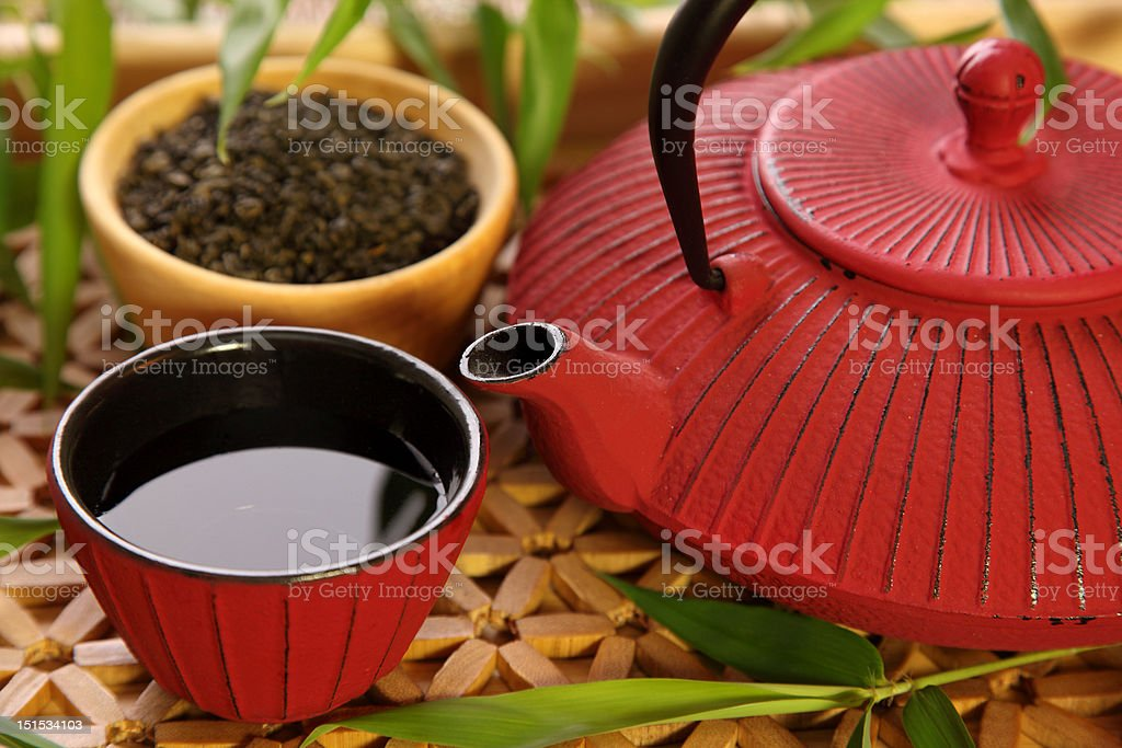 Traditional Japanese teapot royalty-free stock photo