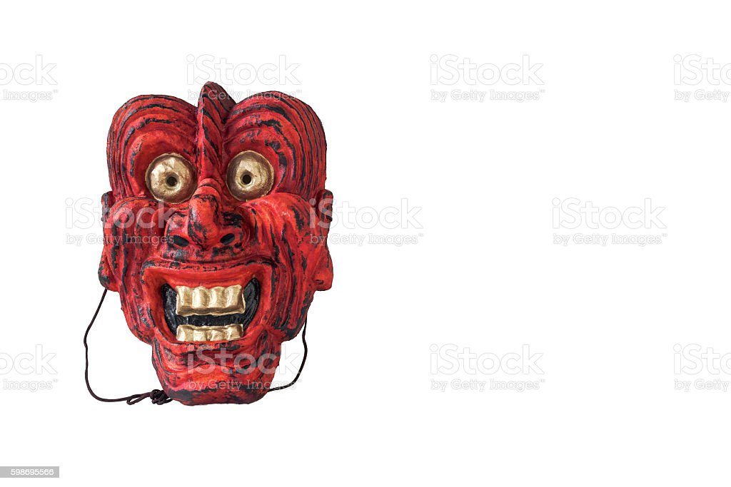 Traditional japanese theater mask stock photo