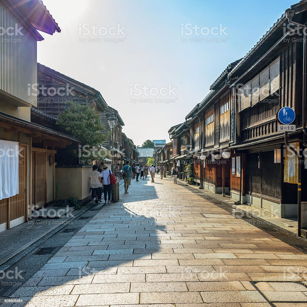 Traditional Japanese townscape stock photo
