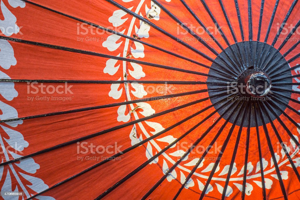 Traditional Japanese Umbrella stock photo