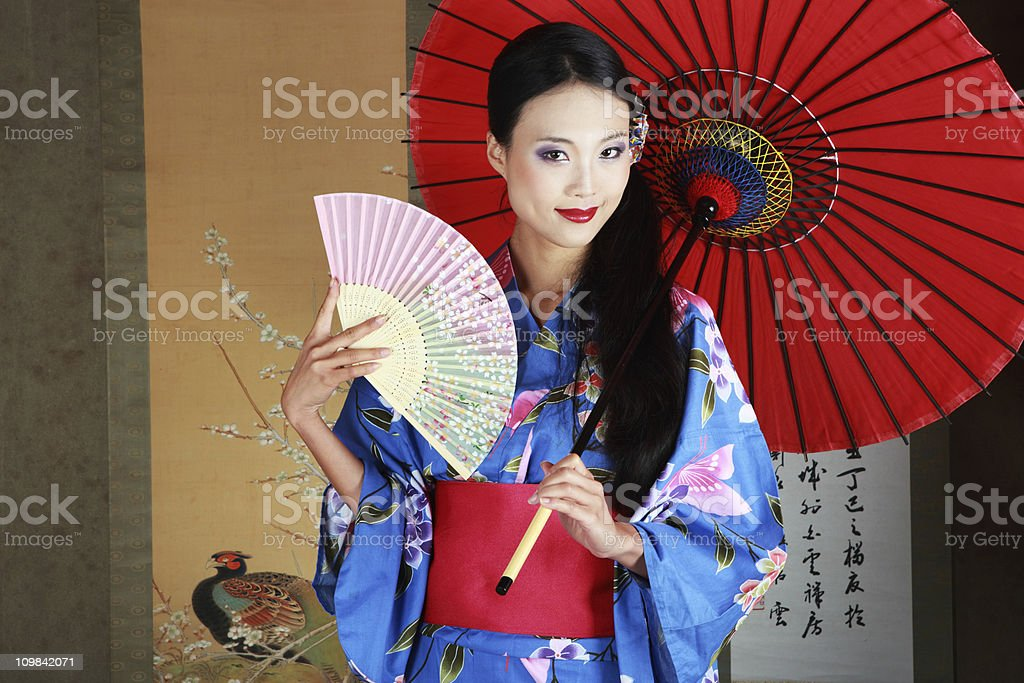 Traditional Japanese Woman royalty-free stock photo