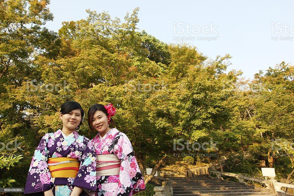 traditional japanese women stock photo