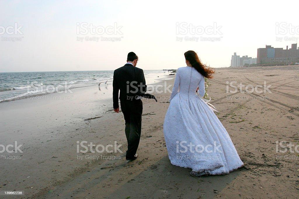 Traditional Jewish wedding stock photo