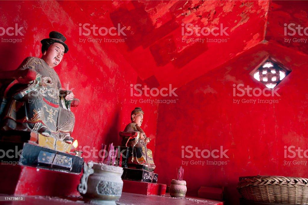 'Traditional Joss in Local Temple, Matsu Island' stock photo