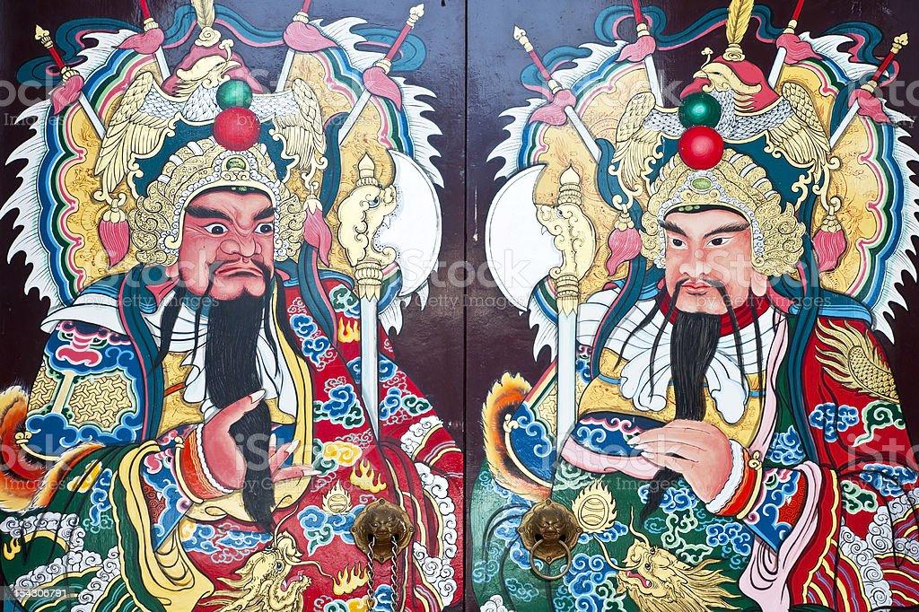 Tradycyjne rodzaju Dom gates w Chinach zbiór zdjęć royalty-free