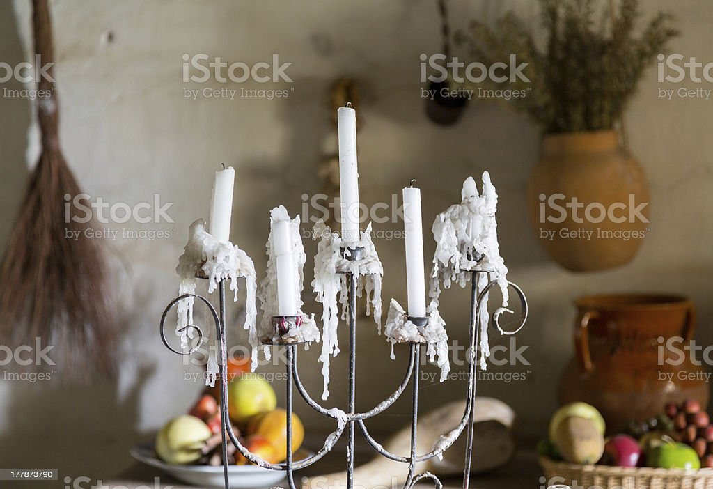 Traditional kitchen in mission California stock photo