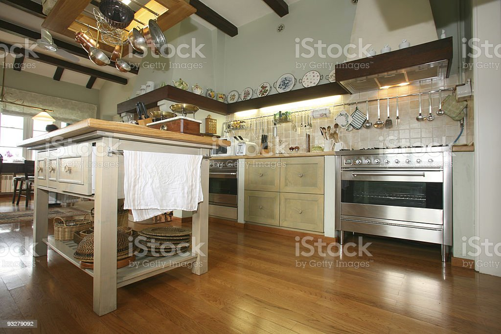 Traditional kitchen stock photo