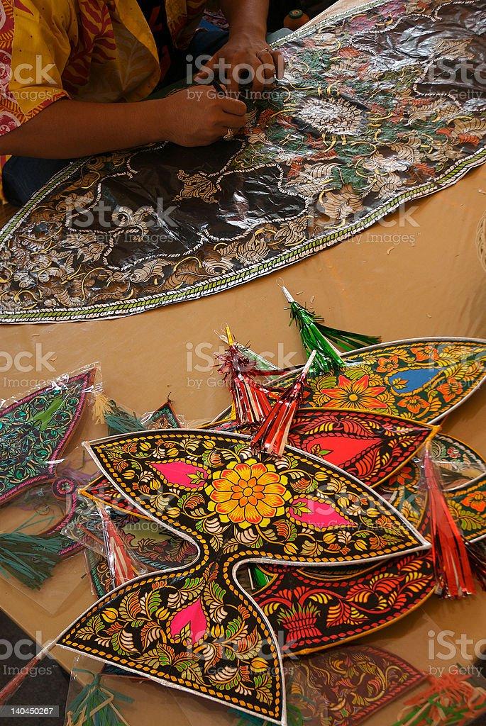 Traditional kite maker royalty-free stock photo