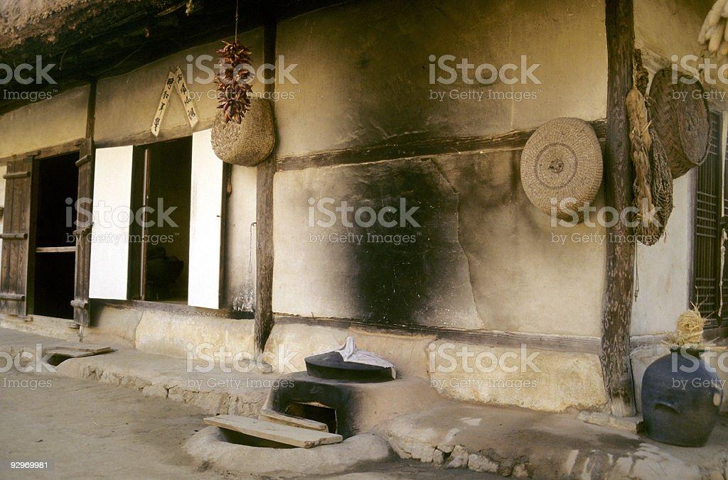 Traditional Korean Farm House royalty-free stock photo