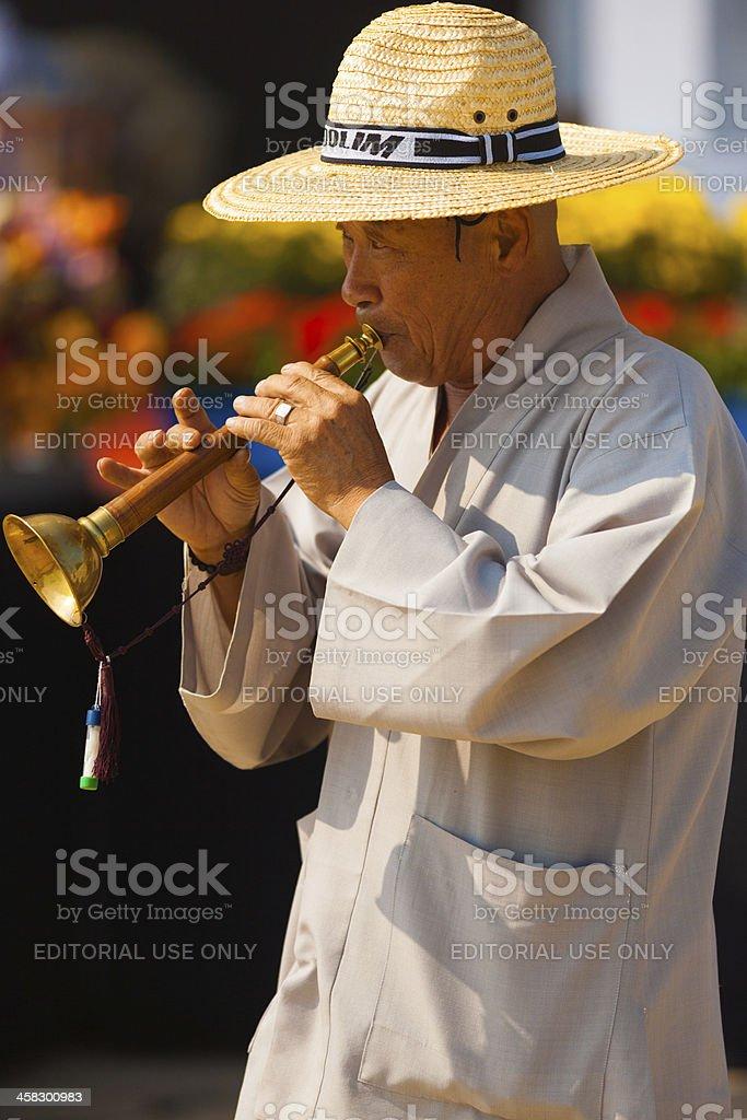 Traditional Korean Reed Instrument Taepyeongso royalty-free stock photo