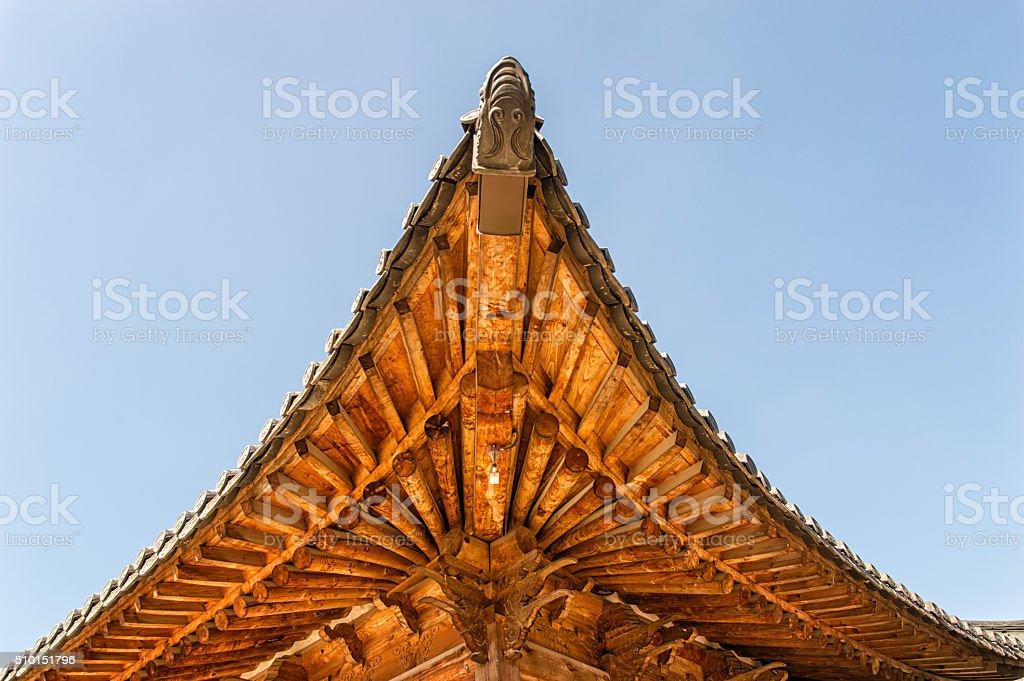 Traditional Korean Roof stock photo