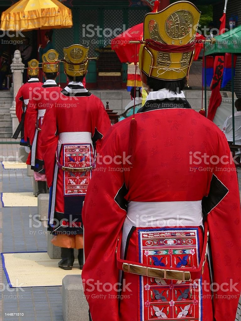 Traditional korean wedding scene royalty-free stock photo