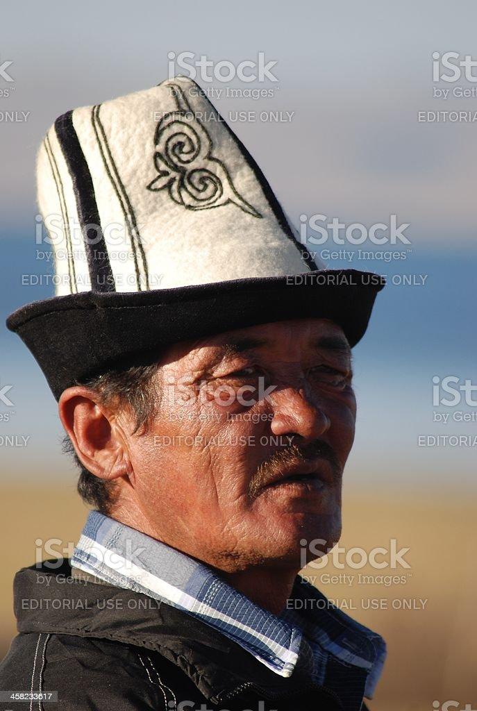 Traditional Kyrgyz shepherd royalty-free stock photo