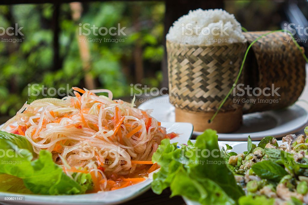 Traditional Lao cuisine stock photo