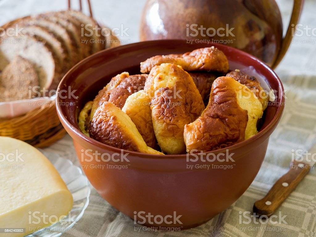 Traditional Latgale dessert Klockas, cottage cheese pies royalty-free stock photo