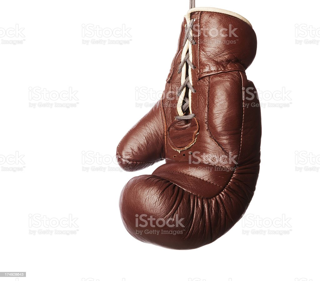 Traditional leather boxing glove. royalty-free stock photo