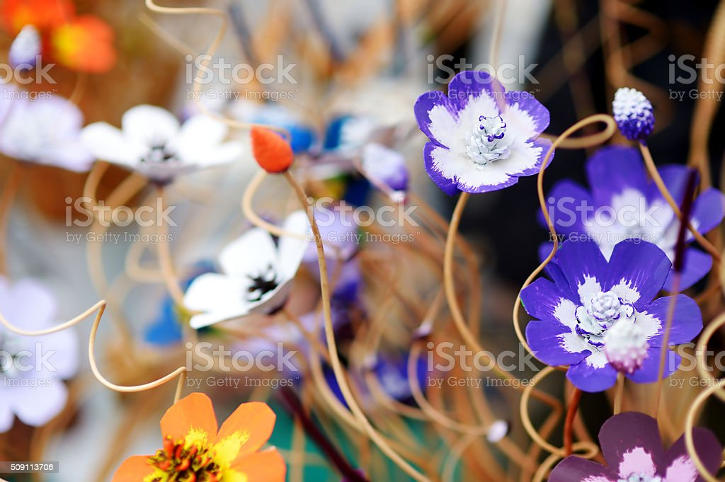 Traditional Lithuanian Easter palm known as verbos stock photo