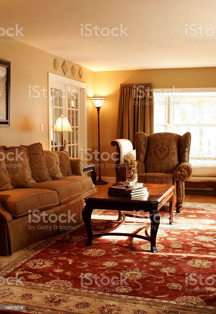 traditional living room interior royalty-free stock photo