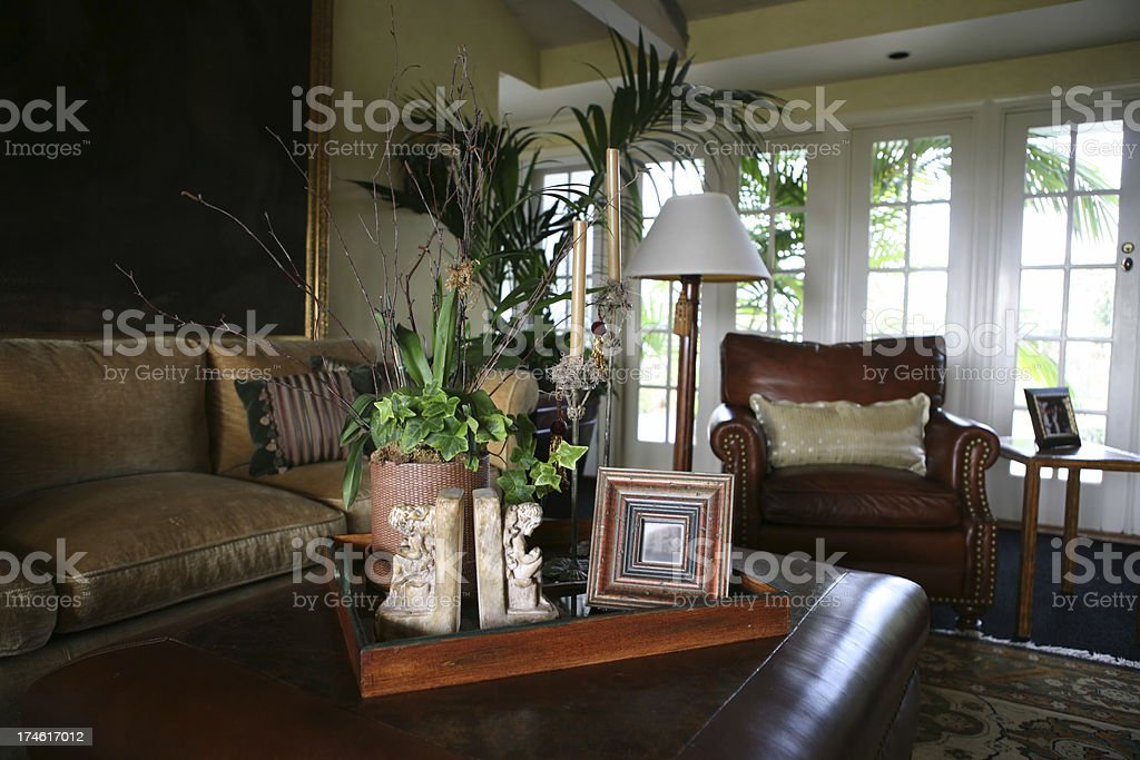 Traditional Living Room stock photo