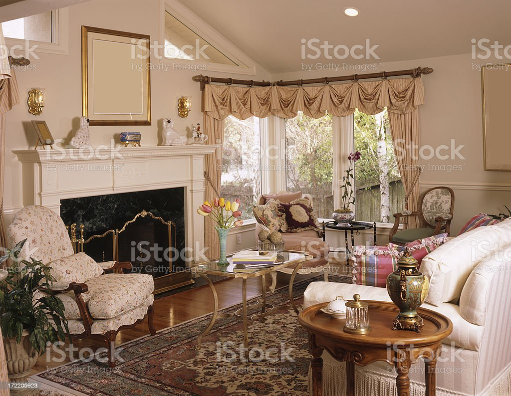 Traditional Livingroom royalty-free stock photo
