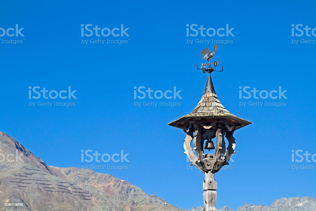 Traditional lunchbell in Tirol stock photo