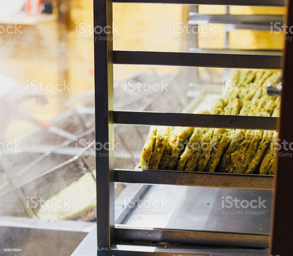Traditional Luxembourg potatoes food stock photo